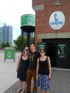 """Die """"Steam Whistle"""" Brauerei in Toronto. Leider waren die Touren schon ausgebucht. Haben trotzdem ein Freibier bekommen. Sehr leckeres Pilsener!"""