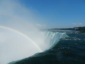 Direkt am Wasserfall