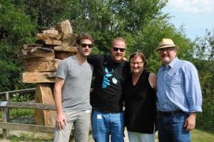 Mit Michelle und John vor einem Inukshuk